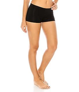 0e5e4dcd248 CNC STYLE Women s Regular Plus Soild Stretch Mini Dance Yoga Workout  Underskirt Pant Cotton Booty