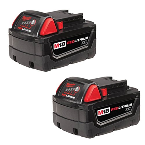 Milwaukee M18 XC RED LITHIUM 18-Volt Lithium-ion Cordless Tool Battery (2 Pack) by Milwaukee Tool Battery