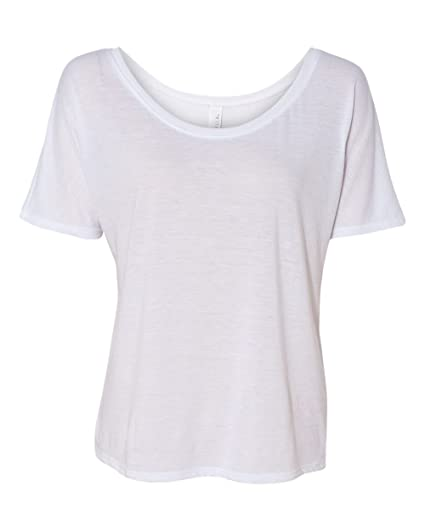 682f619e Bella + Canvas Women'S Slouchy Tee (White) at Amazon Women's ...