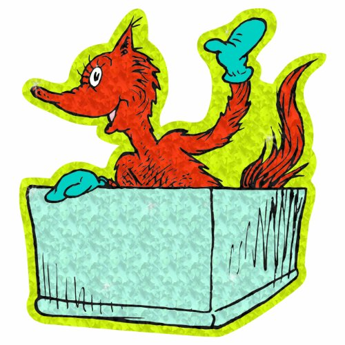 Eureka Dr. Seuss 5-Inch Fox in Box Sparkle Paper Cut-Outs, Package of 36 - Cut Sparkle Outs Paper