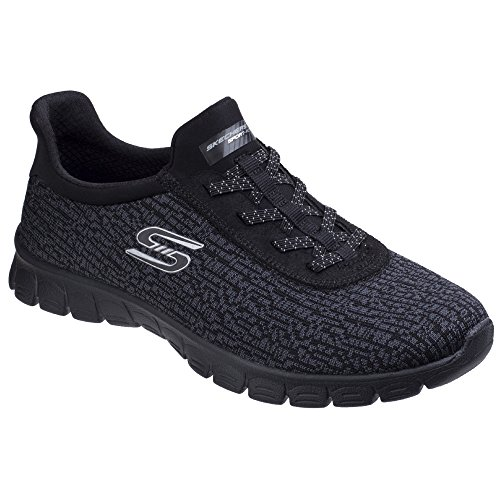 Skechers Womens/Ladies Microburst Supersonic Stretch Trainers Shoes Black