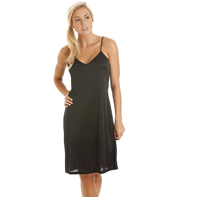 Camisón/combinación para mujer - Tallas 38 a 52 - Negro 38