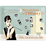 Nostalgic Art 25005 Glove Puppet Grandmother Breakfast at Tiffany's Blue Memo Board 40 x 30 CM Including 9 magnets by Nostalgic Art