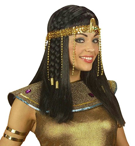 [Egyptian Headress Beaded ASP Accessory for Ancient Egypt Fancy Dress] (Ancient Greek Dance Costumes)
