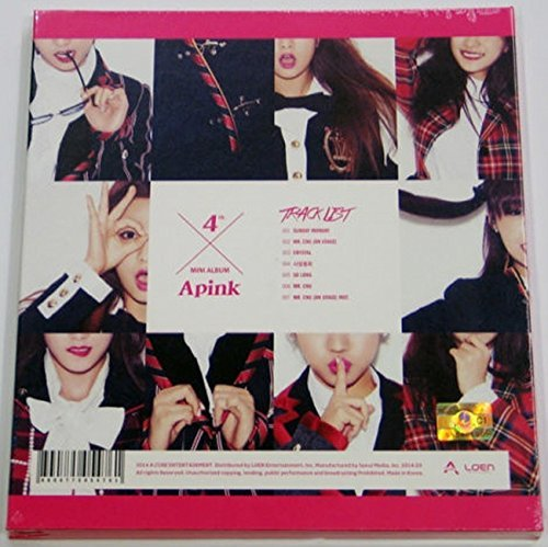 APINK - Pink Blossom (4th Mini Album) CD + 60p Photo Booklet + Photocard + Extra Gift Photocards Set by ACUBE Entertainment
