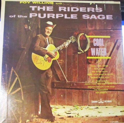 Foy Willing and The Riders of the Purple Sage Crown Records CLP 5306 MONO LP