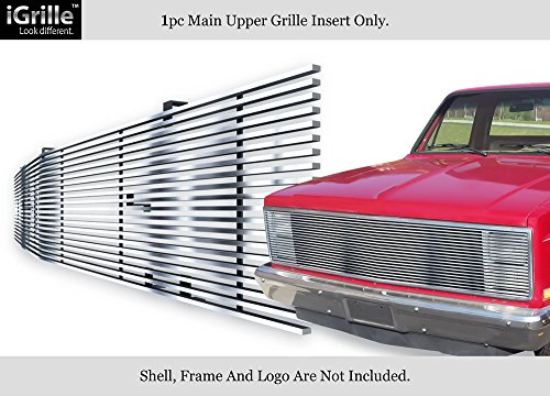 Gmc Jimmy Grille Replacement - APS 81-87 Chevy GMC Pickup/Suburban/Blazer/Jimmy Phantom Stainless Billet Grille #N19-C20258C