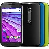 """Smartphone Motorola Moto G 3ª Geração Colors Preto, Android 5.1, Tela 5"""", 16GB, Cam 13MP, 4G - HDTV"""