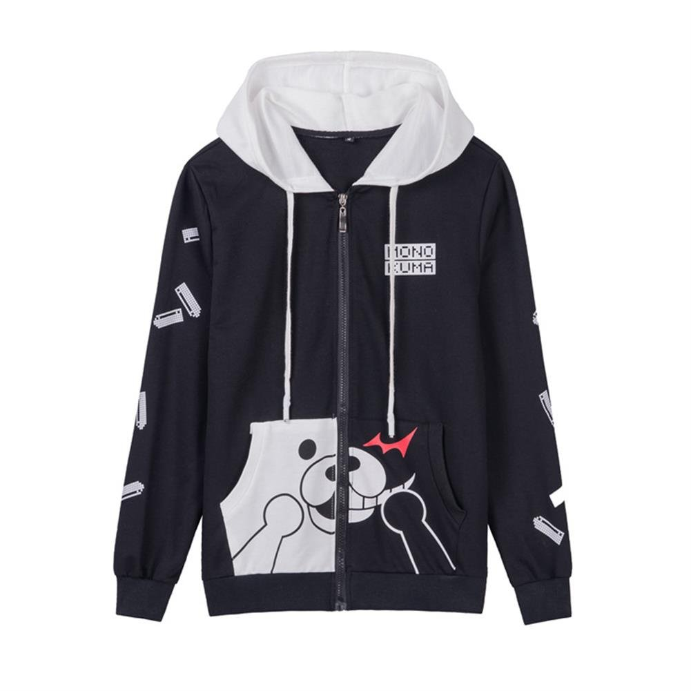 Mikucos Unsiex Anime Danganronpa Monokuma Cosplay Jacket Costume Sweater