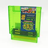 500 in 1 NES Super Games Multi Cart 72 Pin Transparent Green Game Cartridge