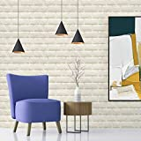WADILE 3D Brick Peel and Stick Wallpaper, 3D White