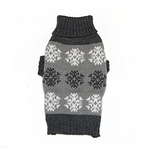 Luxury Dog Sweaters - Ollypet Warm Snowflakes Pattern Classic Sweater For Small Dogs Christmas Winter Clothes XS