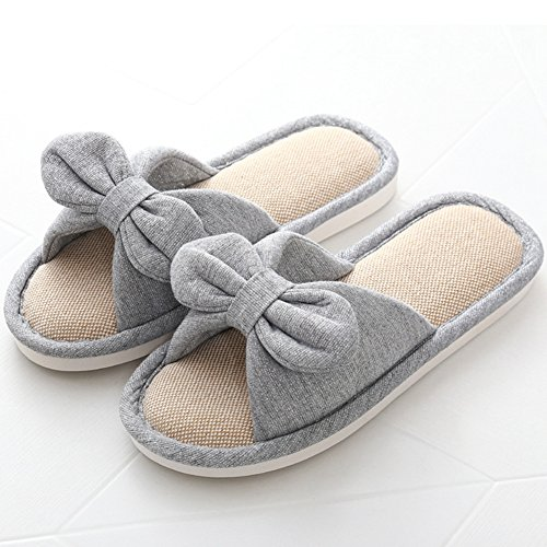 Toe Open Indoor Womens Cotton Slippers Soft House Shoes Slippers Comfortable Btrada Grey FgCn0x0