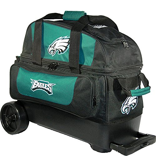 KR Strikeforce Philadelphia Eagles Double Roller Bowling Bag, Multicolor