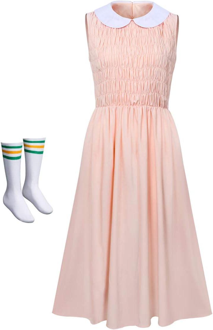 NUWIND - Disfraz de Stranger Eleven para Mujer Falda Rosa Sin ...