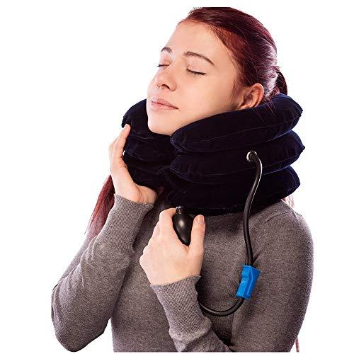 [해외](dark blue) - Cervical Spine Neck Traction Device Inflatable Neck Brace Neck Collar Support For Pain Relief What The Docto r Recommends By Lovely Home (dark blue) / (dark blue)-cervical Spine Neck Traction Device Inflatable Neck Br...