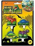 Bougies anniversaire dinosaures (x4)