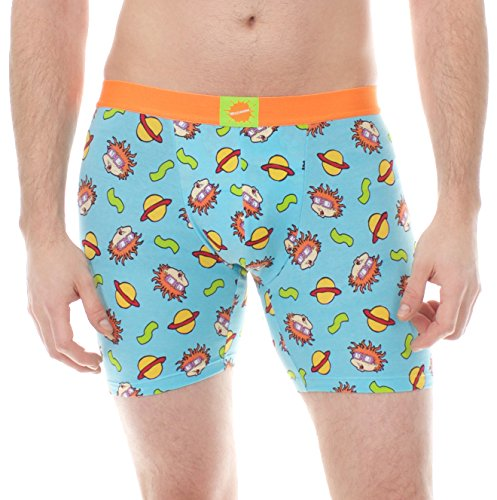 Nickelodeon Rugrats Chuckie Toss Blue Outer Space Boxer Brief (Medium) by Viacom