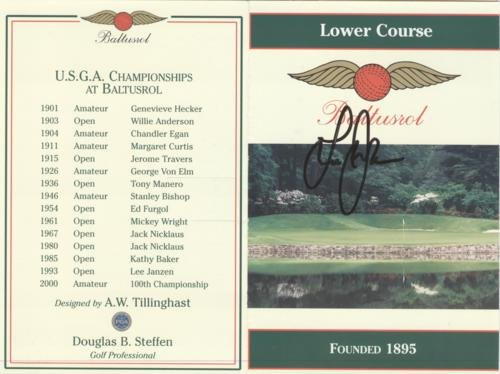 Lee Janzen Autographed Baltusrol Golf Club Lower Course Scorecard - 1993 U.S. Open (Golf Club Collectibles)