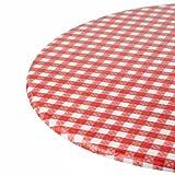 Kwik-Cover 30-rw 30' redondo Kwik-Cover- funda mantel de cuadros rojos (1FULL funda de 100)