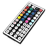 Fan-Ling 5M RGB 3528 300 Led SMD Flexible Light Strip Lamp+44 Key IR Remote Controller,Not Waterproof, Single-Head DC Female, Kitchens, Living Rooms, Bedrooms Decor
