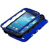 MYBAT TUFF Hybrid Phone Protector Cover for Samsung Galaxy S4 Mini - Retail-Packaging - Titanium Blue/Black