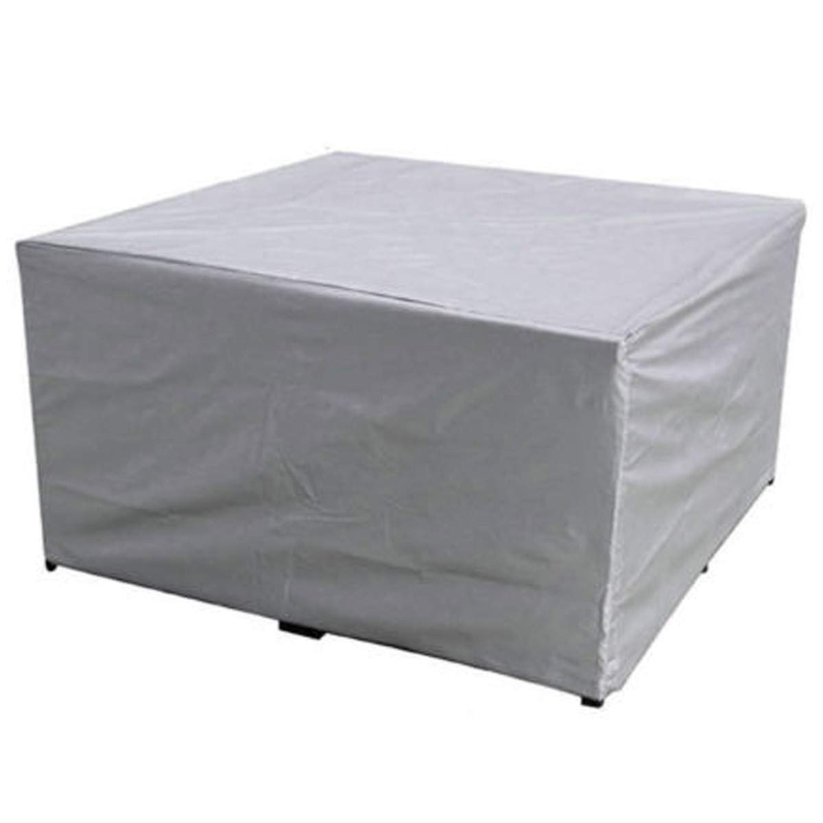 Windproof Rainproof Snowproof Dustproof 45.27 x 45.27 x 27.55 Inch Waterproof Patio Furniture Cover Heavy Duty Outdoor Table and Chair Cover Durable Rectangle Garden Lawn Desk Protect Cover