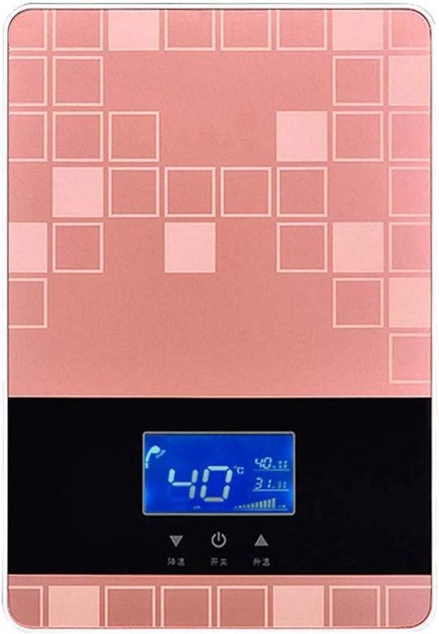 KYLL Calentador de Agua instantáneo, 8KW eléctrico sin Tanque Calentador de Agua Caliente con Pantalla LCD for el baño de Lavado de Cocina Calentador