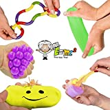5 Piece Brain Food Putty and Sensory Processing Tools Pack; Stress/Anxiety Relief Toys for Kids