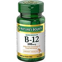 Nature's Bounty B-12 500mcg Microlozenges, Cherry Flavor 100ct 100 ea