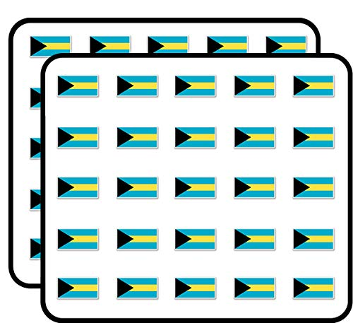 Bahamas Flag Sticker for Scrapbooking, Calendars, Arts, Kids DIY Crafts, Album, Bullet Journals 50 Pack