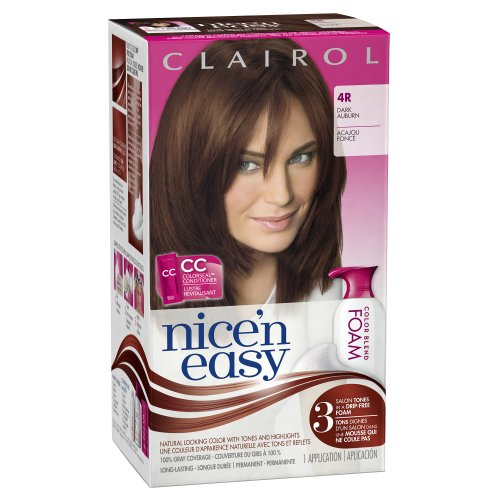 Clairol Nice 'n Easy Foam Hair Color 4R Dark Auburn 1 Kit