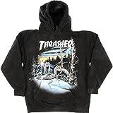 Thrasher Magazine 13 Wolves Black Tie Dye Hooded