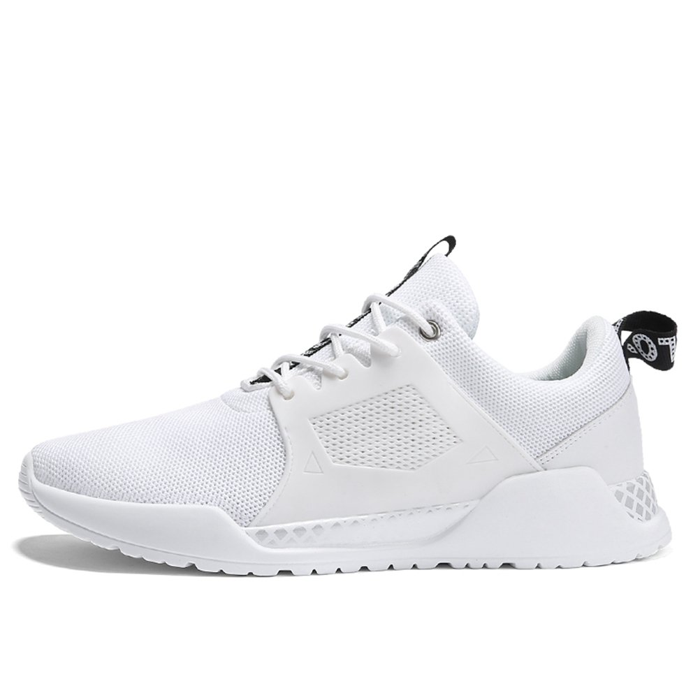 Bornran Zapatillas de Running de Material Sintético Para Hombre 37.5 EU=largo del pie 25 cm blanco