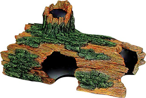 Exotic Environments Hollow Log Aquarium Ornament by Blue Ribbon