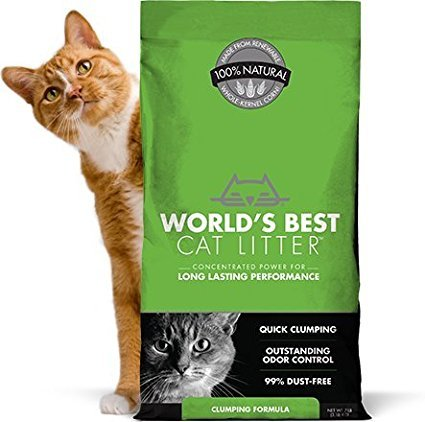 World's Best Cat Litter ORIGINAL SERIES 14 Pound Bag,OUTSTANDING ODOR CONTROL, QUICK CLUMPING & EASY SCOOPING, PET, PEOPLE & PLANET FRIENDLY (Free Fast Delivery)