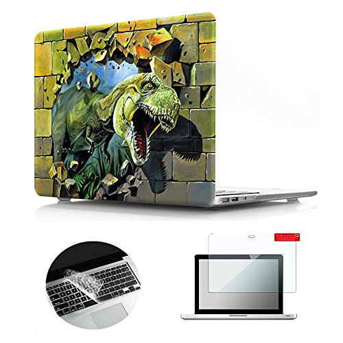 - Se7enline Old MacBook Pro 13 inch Case 2009-2012 Plastic Hard Shell Case for MacBook Pro 13-inch with CD-ROM Model A1278 with Keyboard Cover, Screen Protector,3D Dinosaur