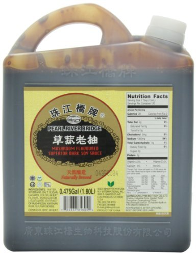 Pearl River Bridge Superior Dark Soy Sauce, Mushroom, 60 Ounce