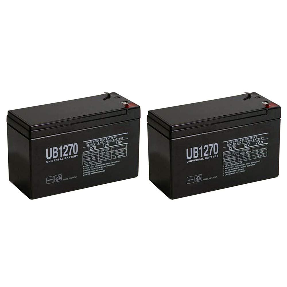 SLA BATTERY, 12V, 7AH, RAZOR SCOOTER E300S - 2 Pack 1270