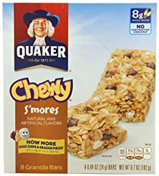 Quaker Chewy Granola Bar, S\'mores, 8-Count (Pack of 6)