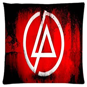Black LP linkin park ~ Durable Unique Throw Square Pillow Case 18X18 inches Fashionable Diy Custom Personalized Pillowcase Design by Engood by icecream design