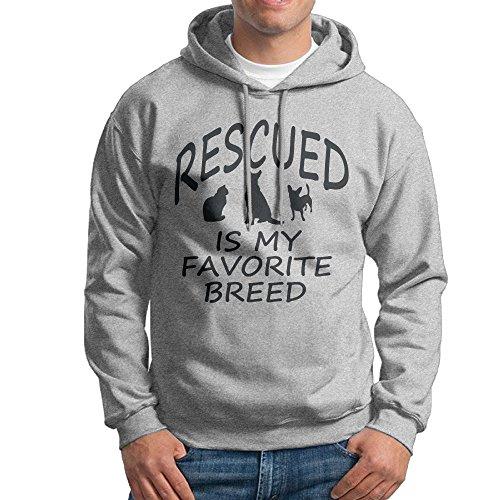 [Bekey Men's Animal Rescue Transport Pullover Hoodie Sweatshirt L Ash] (Dance Costumes Ma)