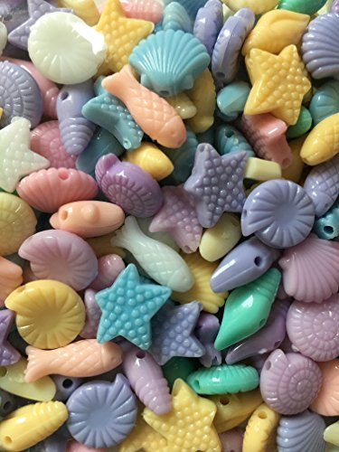 Ocean animals Shell Seashell,Plastic Beads Crafts Assorted Pastel Color For Kids - How Made Seashells Are