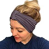 HighlifeS Women Elastic Turban Head Wrap Headband Twisted Hair Band (G)