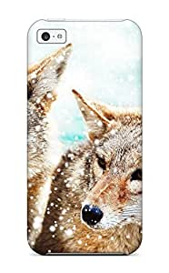 CRYSTAL TYLER Bowyer's Shop Best 8224715K10612903 New Shockproof Protection Case Cover For Iphone 5c/ Wolf Case Cover