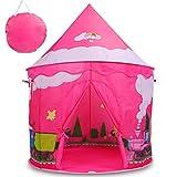 Livememory Kids Play Tent, Children Pop Up Tent Kids Tent for Girls Castle Tent Indoor -Pink