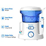 Nicefeel Water Flosser - Water Flossing Dental Oral Irrigator with 10 Pressure Settings, Water Flosser for Teeth Cleaning 90 Seconds Dental Flosser with 7 Tips for Family Use FDA Approved