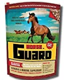 Horse Guard is the most highly concentrated equine vitamin-mineral supplement on the market today. A mere two ounces a day ensures your horse will get all the critical nutrients typically missing from hay – including 3 mg. of organic selenium...