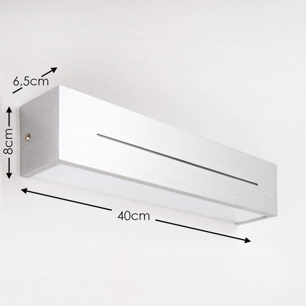 Applique murale Olbia au design moderne pour un /éclairage vers le haut et vers le bas Luminaire mural finitions aluminium bross/é pi/èces /à vivre Applique int/érieure pour couloir