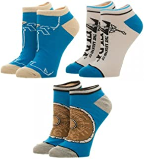 Legend of Zelda Breath of the Wild Ankle Sock 3 Pack Standard BioWorld